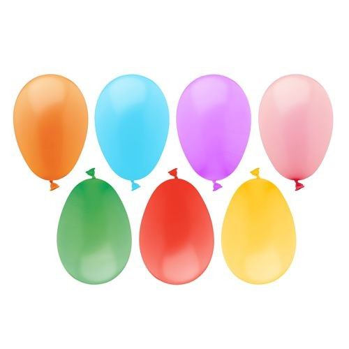 100 Luftballons, farbig sortiert, Wasserbomben