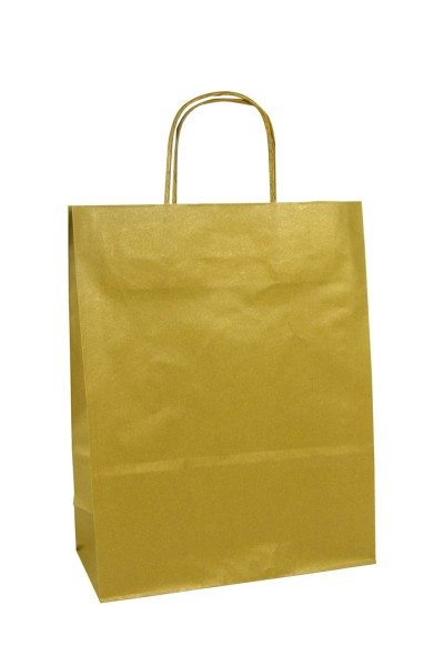 Geschenktaschen 18x7x24 gold 25St