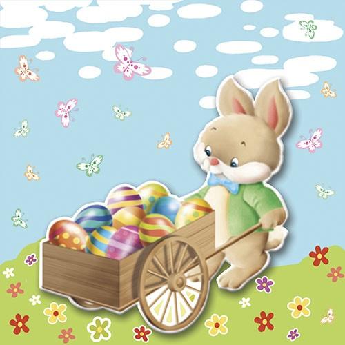 "20 Servietten ""Easter Bunny"", 3-lagig, 33 x 33cm,"